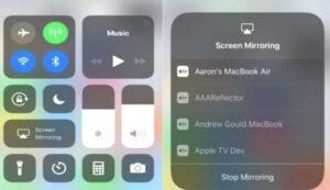 انعكاس الشاشة Apple TV لبث الجوال على التلفزيون